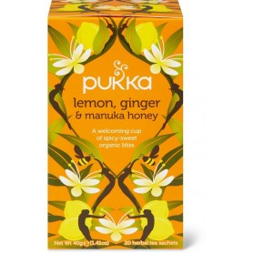 Infuso pukka lemon ginger e manuka honey 20 filtri gr.40