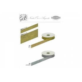 Nastro lurex gold 10 mm 50 mt oro - 1 pz