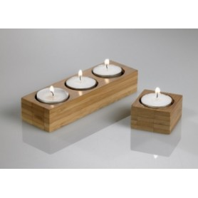 Candeliere bamboo naturale 5x5x3h cm 1 pz