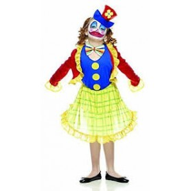 Costume carnevale bimba clown mis. l