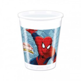 Spiderman bicchieri 200 ml pz.8