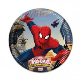 Spiderman piattini 19,5 cm pz.8