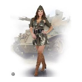 Costume carnevale donna army lady 36-38