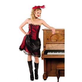 Costume carnevale donna can can mis. 40-42