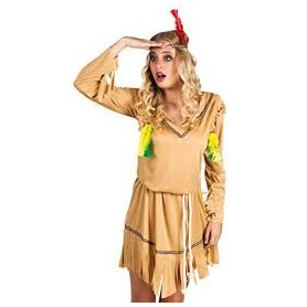 Costume carnevale donna indian white horse m