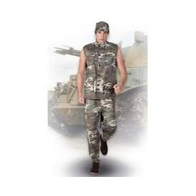 Costume carnevale Uomo army officer 50-52