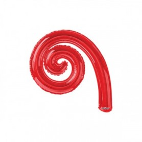 Palloncino mylar kurly spiral rosso cm.43x30 pz.5