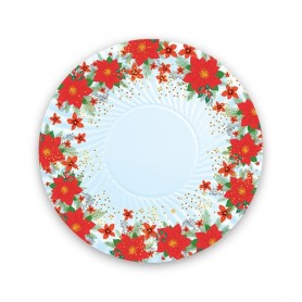 Natale christmas flower piatto 18 cm 8 pz