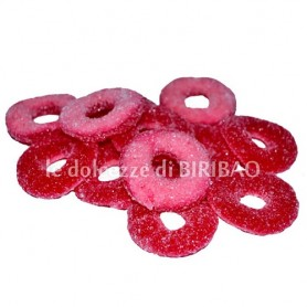 Caramelle gommose anelli di fragole 100 gr