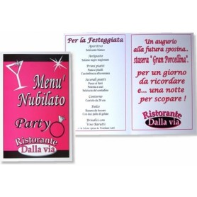 Menu party nubilato