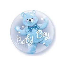 Palloncino double-bubble™ orsetto baby boy