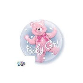 Palloncino double-bubble™ orsetto baby girl