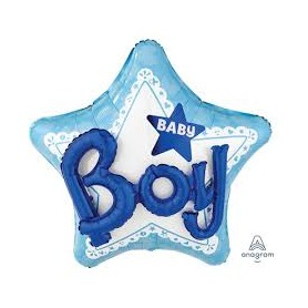 Palloncino jumbo multiballoon mylar celebrate baby boy