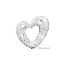 Palloncino in mylar super shape cuore 107 cm