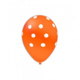 Palloncini lattice pois arancio 12 100 pz