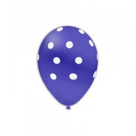 Palloncini lattice pois blu 12 pollici 100 pz
