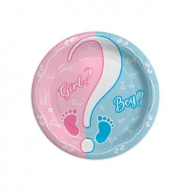 Baby girl or boy piatto 18 cm 8.pz