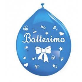 Palloncini in Lattice battesimo celeste 20 pz