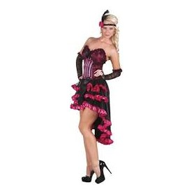 Costume carnevale donna can-can rose 36-38
