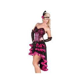 Costume carnevale donna can-can rose 40-42