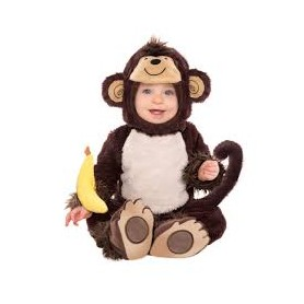 Costume carnevale neonato monkey around 6-12 mesi