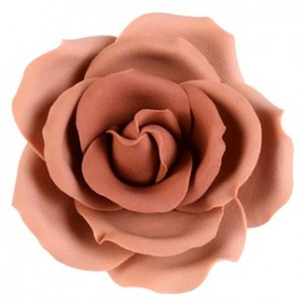 Fiori rose diam.5,5 autunno marroni - 1 pz