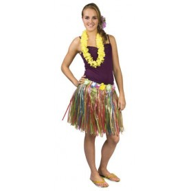 Gonna hawaiana multi colours 45cm 1 pz