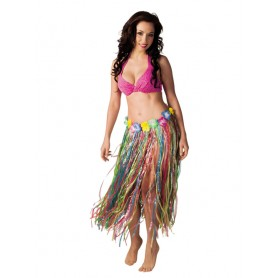 Gonna hawaiana multi colours 80 cm 1 pz