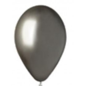 Palloncini lattice chrome grey 50 pz