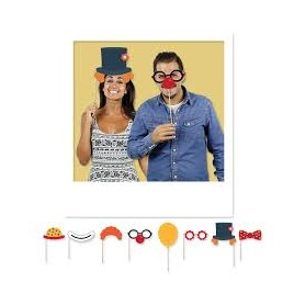 Maxi photo booth 20 cm circus party 8 pz