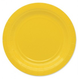 Giallo piatto 18 cm ecolor in carta 25 pz