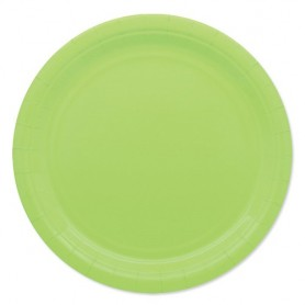 Verde mela piatto 24 cm ecolor in carta 25 pz