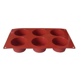 Forma in silicone muffin 6 stampi