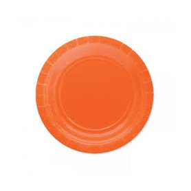 Arancio piatto 18 cm ecolor in carta 25 pz