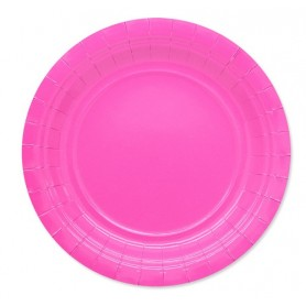 Fuxia piatto 18 cm ecolor in carta 25 pz