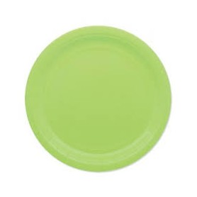 Verde mela piatto 18 cm ecolor in carta 25 pz