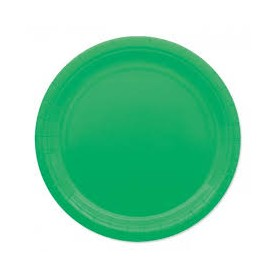 Verde piatto 24 cm ecolor in carta 25 pz
